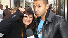 Jay Sean tries out his pulling techniques...STRIKE ONE!