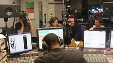 Reggie at the controls with the McFly boys
