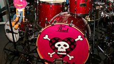 Check out the funky drum kit!