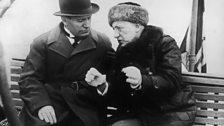 Mussolini and Gabriele D'Annunzio In 1925
