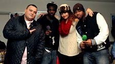 Charlie Sloth, Wretch 32, Yasmin & J2K take a break from Hip Hop karaoke