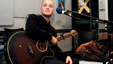 Maverick Sabre getting ready to perform
