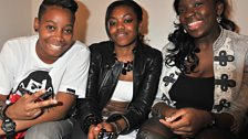 A.Dot, Lady Leshurr and Lioness chill backstage