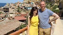 Aoibhinn and Joe at Popeye village