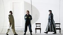 Kim Begley as Captain Vere, Benedict Nelson as Billy Budd and Matthew Rose as Claggart