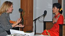 Kirsty Young interviewing Aung San Suu Kyi in her Naypyitaw home, Burma, 18 Dec 2012