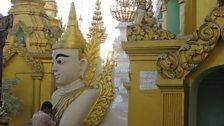 Praying at the Shwedagon