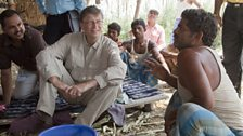 Bill visits a polio program - India