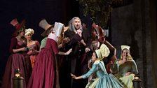 "Nicola Ulivieri as The Tutor in Rossini's ""Le Comte Ory."""