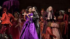 """Pretty Yende as Countess Adèle and Juan Diego Flórez as Count Ory in Rossini's """"Le Comte Ory."""""""