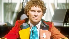 Colin Baker as the Time Lord…