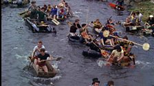 Sheffield University students make their own rafts