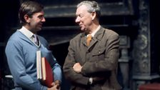 Britten and Brian Large on set