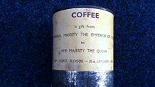 An original tin of coffee from 1953, a gift from the Emperor of Ethiopia