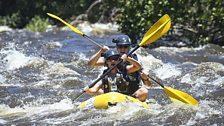 Greg James rows the Zambezi