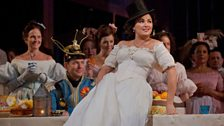 "Anna Netrebko as Adina in Donizetti's ""L'Elisir d'Amore."""