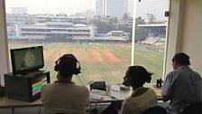 TMS Commentary Box at Brabourne Stadium Mumbai