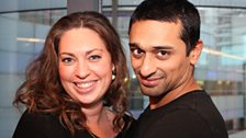 Stephanie Racine and Avin Shah who play Jess and Aki