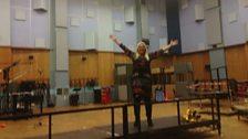 Vanessa in Abbey Road studio 1