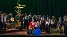 "Željko Lucic as Rigoletto and Diana Damrau as Gilda in Verdi's ""Rigoletto."""