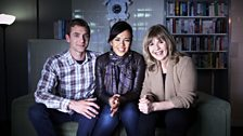 Jem Stansfield, Liz Bonnin and Maggie Philbin