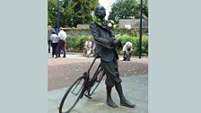 Statue of Elgar in Hereford, taken by Clare (Presteigne)