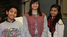 Our wonderful child actors - Adnan Chowdhury, Nuha Fabiha Sultana and Rhea Somaiya