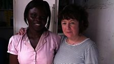 Evelyn, who grew up in the Agbogbloshie slum has set up her own business thanks to SISS.