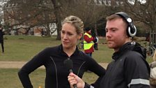 Sophie Raworth and You & Yours reporter Simon Browning