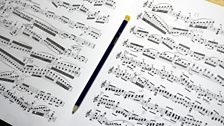 Bach with editing notes