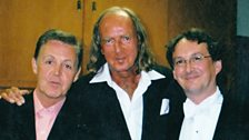"Sir Paul McCartney, Sir John Tavener & Peter Phillips in New York for a performance of Sir John Tavener's""In the Month of Athyr"""