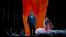 "Jonas Kaufmann as the title character and Katarina Dalayman as Kundry in Wagner's ""Parsifal."""