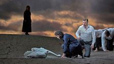 "Jonas Kaufmann as the title character and René Pape as Gurnemanz in Wagner's ""Parsifal."""