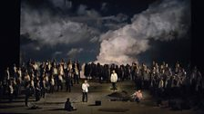 "A scene from Act III of Wagner's ""Parsifal."""
