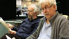 Jonathan Pryce who plays Peter and Nicholas Le Prevost who plays Sam read through their lines