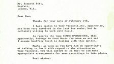 David Bowie Letter 9th February 1968