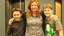 Writer Fiona Evans with actors Daniel Kerr and Ellis Hollins