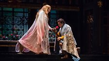 "Eva-Maria Westbroek in the title role and Marcello Giordani as Paolo il Bello in Zandonai's ""Francesca da Rimini."""