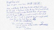 Rocket's letter