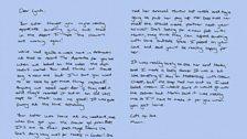 Lynda's letter