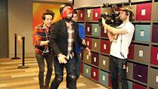 Radio 1's Scott Mills hurtling towards Vanessa for Comic Relief!