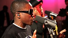 Tinchy Stryder performs in the Live Lounge