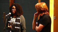 Priscilla Jones and Sam Blue lead the Vocals session