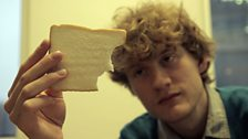 James on white bread