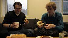 Nathaniel on the plain bagel
