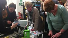 Listeners get stuck in sewing seeds in the Open Centre