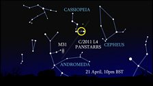 Comet PANSTARRS at the end of April