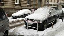 Snowy Bucharest, the largest city in Romania