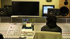 At the mixing desk