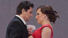 """Saimir Pirgu as Alfredo and Diana Damrau as Violetta in Verdi's """"La Traviata."""""""